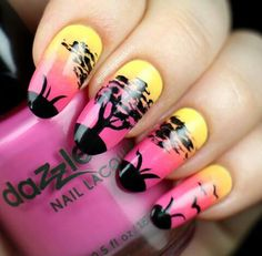 Summer time using Dazzle Dry nail polishes from whatsupnails.com