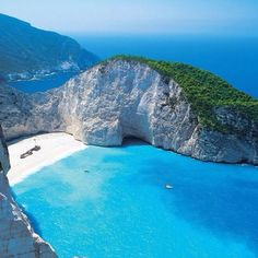 Navagio Beach, Greece. I'll happily accept a plane ticket to Greece for my Birthday! :)