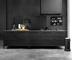 Kitchen Design Trends 2016 – 2017 kitchen ideas, kitchen design, - Home Designs Black Kitchen Cabinets, Black Kitchens, Ikea Kitchen, Kitchen Interior, Cool Kitchens, Kitchen Dining, Kitchen Ideas, Home Interior, Kitchen Furniture