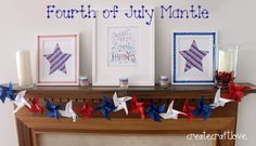 Create.Craft.Love.: 4th of July Mantle Reveal