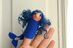 Fingerpuppen & Handpuppen - Fingerpuppe Meerjungfrau - a design piece from Faserverbund on DaWanda