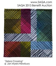 Art quilt by Jan Myers-Newbury, part of the Studio Art Quilt Associates 2013 Benefit Auction. http://www.saqa.com