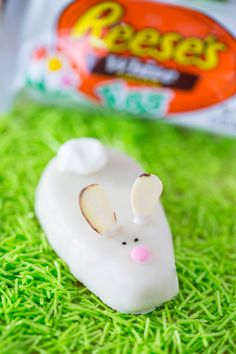 Easter Bunny Treats ...the most adorable chocolate peanut butter bunnies! Your kids will love these mini desserts for Easter.