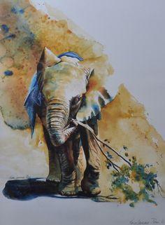 A África aquarelada de Karen Laurence Rowe - BLCKDMNDS