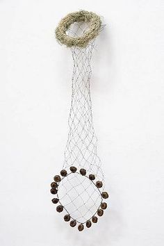 Mari Andrews   Conduit, 2012   Wire, tree moss, eucalyptus pods  25 x 9 x 5 inches