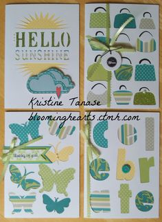 CTMH ARTFULLY SENT cards with Dotty For You paper by Kristine Tanase.