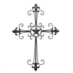 Lone Star Wall Cross - HeadWest Outfitters #homedecor #western #stars #crosses