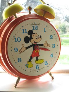 Vintage 70's Germanmade Mickey Mouse Clock by ScenesterBike, $40.00