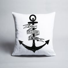 Matthew Taylor Wilson - Anchor - Cushion cover Throw Cushions, American Artists, Hand Lettering, Anchor, Art Pieces, Graphic Design, Man Cave, Cover, Interiors