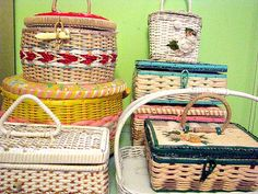 Vintage Sewing Basket Collection by Beth's Bagz, via Flickr