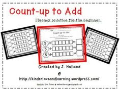 Counting-up to Add: Fluency Practice for Beginners.  Teach your students to add by counting-up.  Great fluency practice for the beginner!