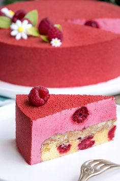 La recette de l'entremets framboise You are in the right place about peanut butter Desserts Here we Raspberry Desserts, Fancy Desserts, Delicious Desserts, Strawberry Mousse, Cupcake Recipes, Baking Recipes, Dessert Recipes, Baking Desserts, Healthy Recipes