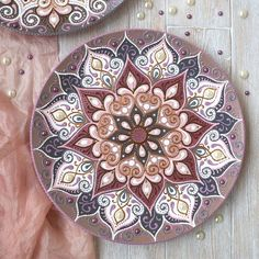 andmade,арт on Instagra Henna Mandala, Mandala Dots, Mandala Drawing, Mandala Painting, Seashell Painting, Dot Art Painting, Keramik Design, Art And Hobby, Arte Popular