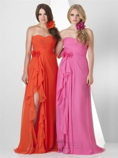 Shirred Sweetheart Criss Cross Crinkle Bridesmaid Dresses