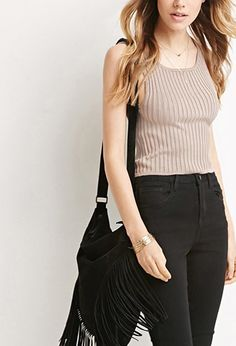 Buy it now. FOREVER21 Women's  Ribbed Knit Crop Top. STYLE A sleeveless crop top in a ribbed knit.80% rayon, 20% nylonHand wash coldMade in ChinaFIT Measured from Small16%22 full length, 28%22 chest, 26%22 waist , topcorto, croptops, croptops, croptop, topcrop, topscrops, cropped, bailarina, topbailarina, corto, camisolacorta, topcortoestilobandeau, crop, bralet, strappybralet, bandeautop. Dark brown FOREVER21  crop top  for woman.