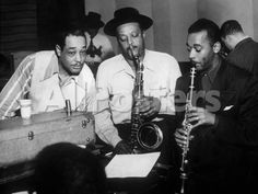 Duke Ellington with Ben Webster and Jimmy Hamilton at Carnegie Hall, 1948 People Photo - 41 x 30 cm