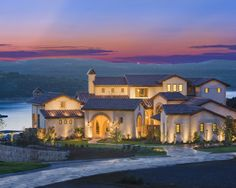 Mediterranean Style Rough Hollow Showcase Home, Austin TX