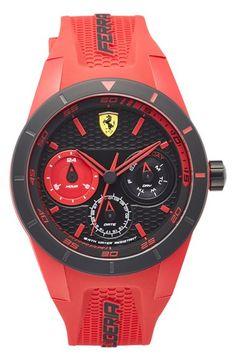 Scuderia Ferrari 'Redrev T' Chronograph Silicone Strap Watch, 44mm