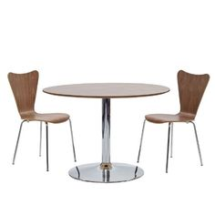 Modern Contemporary Three Pcs Dining Set Walnut
