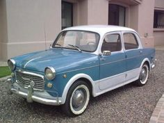 Fiat.. The old ones are so cute, this is one of Shelbi's favorite cars