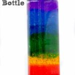 Make your own rainbow discovery bottle by Preschool Inspirations