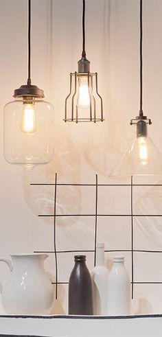 Stylische Lampen im Industriedesign