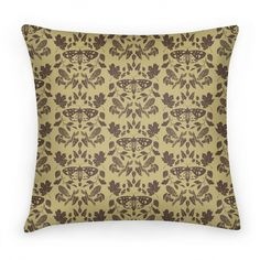 Woodland Moth Pattern | Pillows and Pillow Cases | HUMAN
