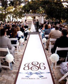 runner for wedding aisle