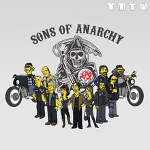Simpsons dressed as sons of anarchy   Sons of anarchy SOA animados simpson t-shirt homens unisex t-shirt 100 ...