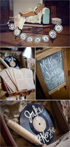 more cute DIY decor ideas...love the record especially!