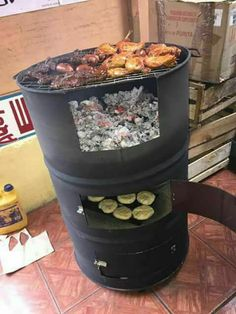 Wood Stove Cooking, Fire Cooking, Fire Pit Grill, Bbq Grill, Outdoor Oven, Outdoor Cooking, Woodfired Pizza Oven, Smoker Designs, Brick Grill