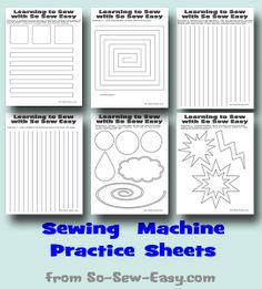 Printable Sewing Machine Practice Sheets   AllFreeSewing.com