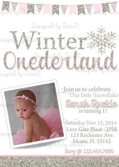 winter onederland birthday party invitation by designedbydanin - Winter Onederland Party Invitations