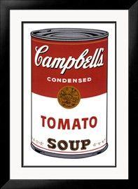 Soepblik, Campbell's Soup I, Tomato, ca.1968 Kunst van Andy Warhol bij AllPosters.nl
