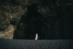 Iceland Elopement - Wear Your Love - Charis Rowland Photography - black sand beach - Vik - bride - Iceland wedding