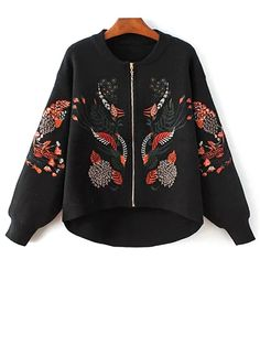 SHARE & Get it FREE | Embroidered Stand Neck Zipper CardiganFor Fashion Lovers only:80,000+ Items • New Arrivals Daily Join Zaful: Get YOUR $50 NOW!