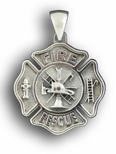 Firefighter Jewelry: Maltese Cross Fire Rescue Sterling Silver.. graduation present?