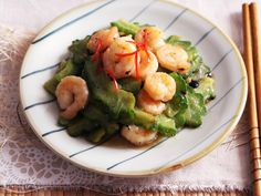 Bittergourd stir fry with shrimps & black bean