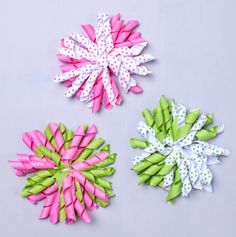 Pretty Ribbon Hair Clips for Little Girls.