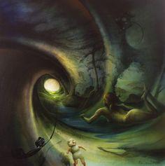 "Peter van Straten ""The Artist. Nothing ruins a grandiose sense of self like a hype. Surreal Art, Natural World, Light In The Dark, Surrealism, Van, Illustration, Artist, Painting, Image"