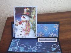 Snowman Christmas card from Kanban.