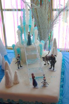 how to make a frozen cake | Disney Frozen Cake out of rock candy. Dramatic and DIY-able.