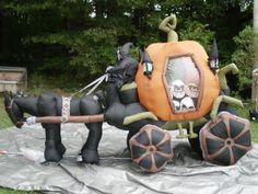 New Gemmy 10' Haunted Pumpkin Carraige Lighted Halloween Airblown Inflatable   eBay