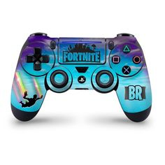 Stormy Sky Rainbow Trails Playstation 4 Pro/Slim Controller Skin Fortnite Fan Art