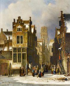 Oene Romkes de Jongh - Winters stadsgezicht (4)