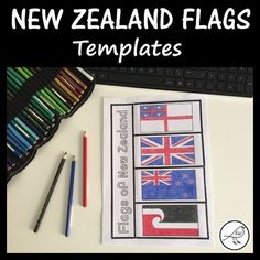New Zealand Flags - Activity Templates School Resources, Classroom Resources, Student Learning, Teaching Kids, Treaty Of Waitangi, Waitangi Day, New Zealand Flag, Spelling Words, Classroom Environment