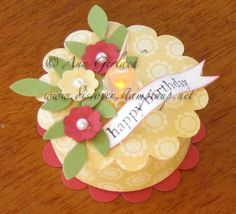 Tealight Cake by Stampsuser - Cards and Paper Crafts at Splitcoaststampers