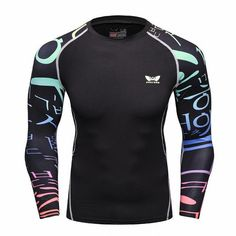 f7028a275d85be Men Compression Long sleeve Breathable Quick Dry T Shirts Bodybuilding  Weight lifting Base Layer Fitness Tight