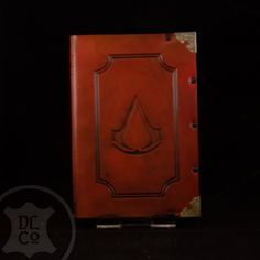 Assassin's Creed Red Antiqued Leather Covered Book