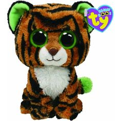 Amazon.com : Ty Beanie Boos Stripes Tiger : Plush Animal Toys : Toys &... ($6.09) ❤ liked on Polyvore featuring stuffed animals and toys